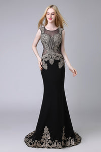 Black Formal Evening Dress Charming Party Dress, LX525