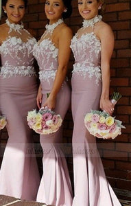 Lace Bridesmaid Dress,Long Bridesmaid Gowns,BD98457