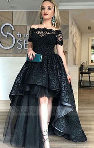 off shoulder prom party dresses, fashion formal evening gowns with appliques,BD98645