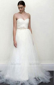 Lace Wedding Dresses, Sleeveless Lace White Wedding Dress,BD99630