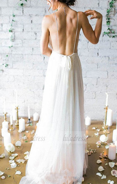 Chiffon Wedding Dress Cheap V Neck Wedding Dress,BD99580