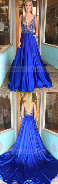 gorgeous beaded long prom dress, 2018 prom dress,formal evening dress,BD98706
