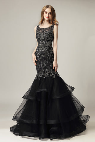 formal gorgeous beaded mermaid Long Prom Dress, LX492