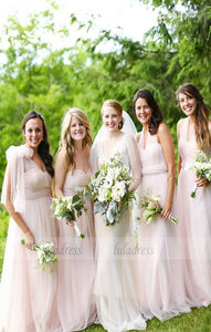 Elegant Chiffon Long Bridesmaid Dress,BD99465