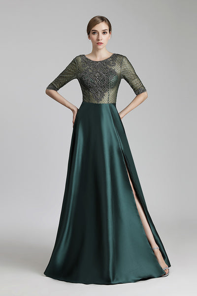 Mid-sleeves Long Prom Dress Charming Formal Evening Dress, LX448