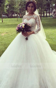 Charming Wedding Dress,White Tulle Wedding Gown,Bridal Dress,Ball Gown Wedding Dresses,BD99634