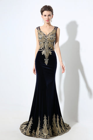 Black Mermaid Formal Prom Dresses Long Evening Party Dress, BS03