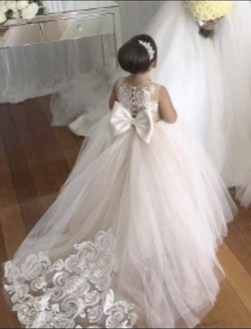 Romantic Tulle Lace Flower Girl Dresses, Flower Girl Dress for Weddings,BD98899