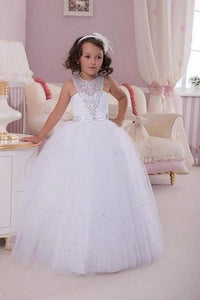 Girls First Communion Dress For Wedding Party.Flower Girls Dresses,BD98865