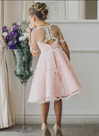 New Arrival Children Skirt White Lace Princess Flower Girl Dresses,BD98931