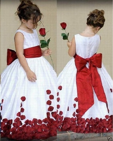 Handmade Flower Flower Girl Dress, Cheap Flower Girl Dress,BD98816