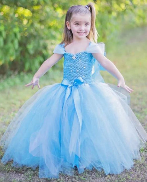 Blue Frozen Flower Girl Dress, BW97568