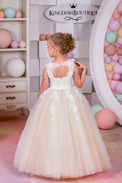 Lace Flower Girl Dresses for Weddings Tulle Ball Gowns Baby Girl Communion Dresses,BD98827