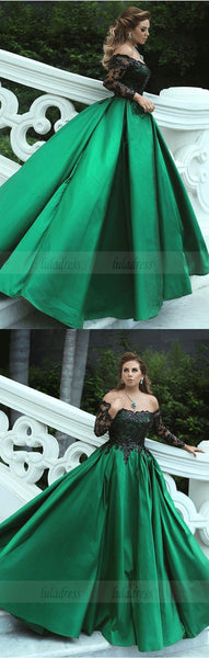 Charming Off The Shoulder A-Line Prom Dresses,Long Prom Dresses,Cheap Prom Dresses,BD99713