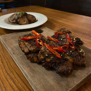 Korean style Miami short ribs with ginger and chilli