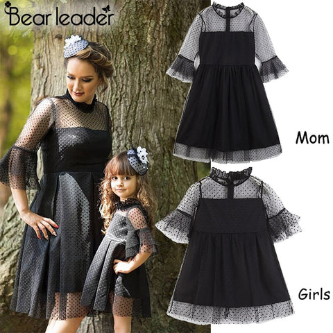 4da42758966 Bear Leader Lace Dress Family Matching Outfit Mother And Daughter Black  Dress Lace Dress