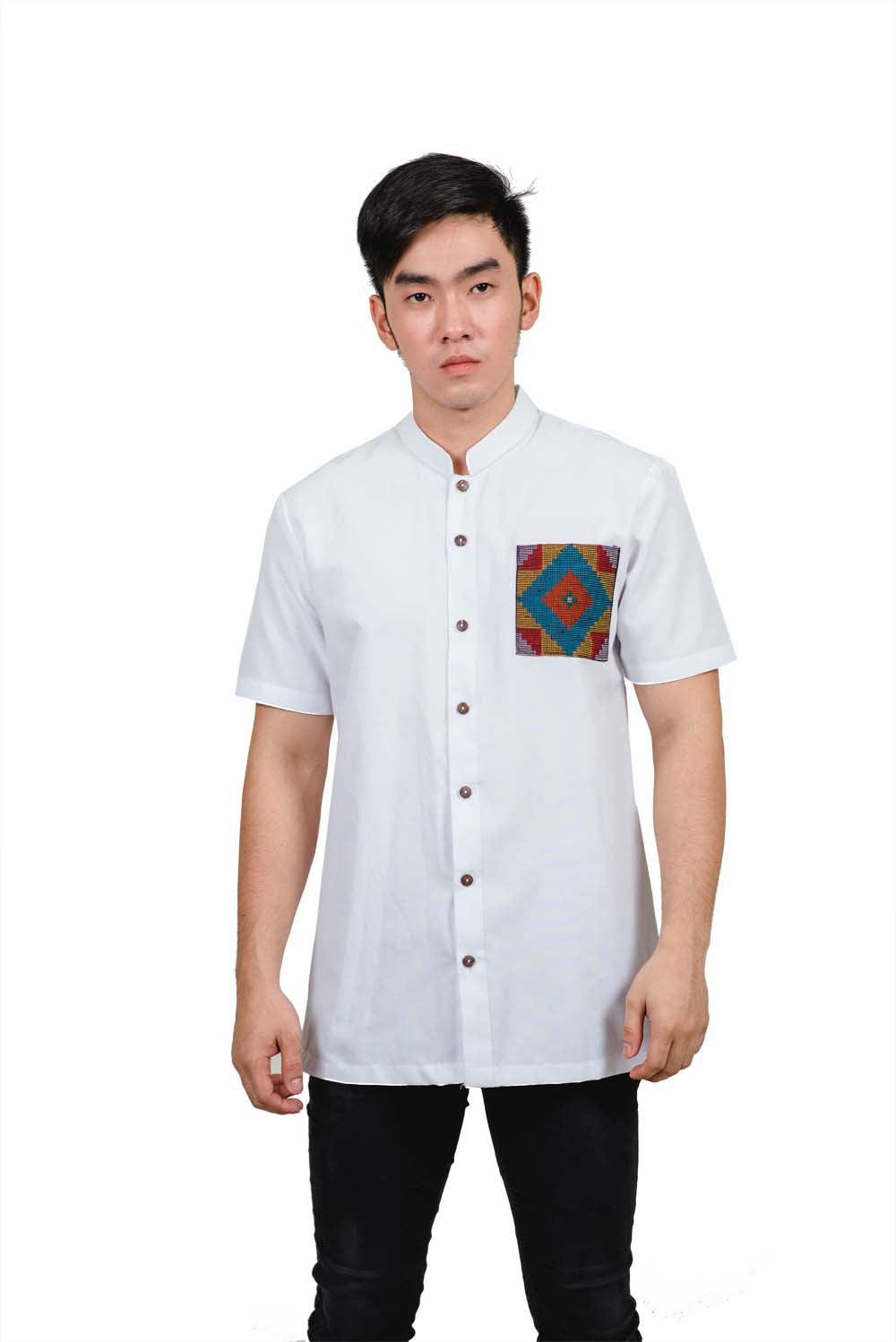 YAKAN PATTERN PATCH POLO