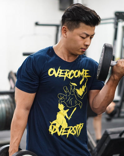 OVERCOME ADVERSITY / KNIGHTMARE Tee (scoop bottom)