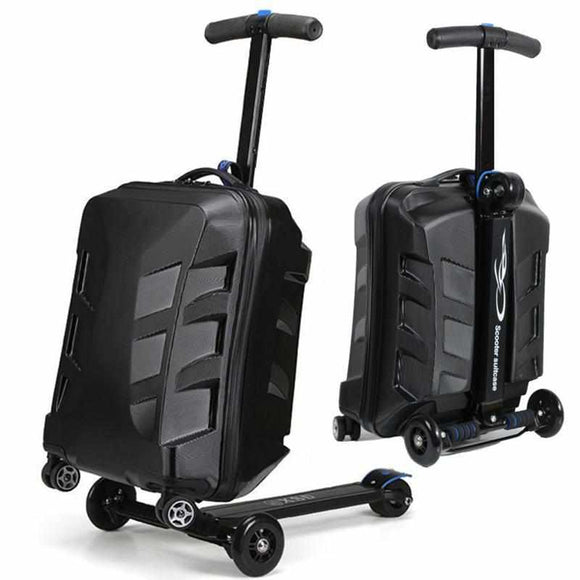 21inch TSA Lock Aluminum Suitcase With Scooter Skateboard-Accessories-Wireless Jack