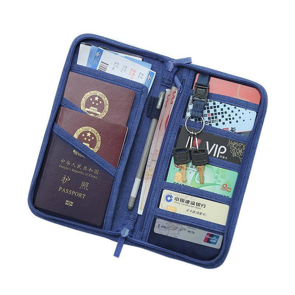 Accessories - Polyester Passport Cover Travel Wallet Document Holder Organizer