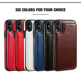 Accessories - Retro Leather Case For IPhone X, 8, 7, 6s/6, 5s/5 With Card Holder
