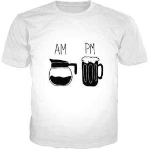 AM PM Beer Classic T-Shirt-DW T-Shirts-Wireless Jack