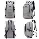 Anti Theft Backpack Travel Bookbag With USB Charging Port