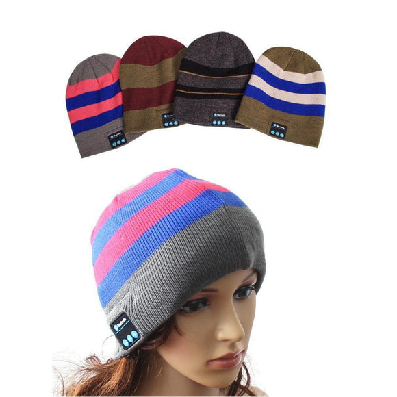 Bluetooth Earphones & Headphones - Wireless Bluetooth Headphones Music Hat Smart Caps Headset Earphone Warm Beanies Winter Hat With Speaker Mic For Sports
