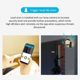 Electronics - 1080P 2MP HD 2.4G Wifi Smart Lamp Hidden Courtyard Light Camera Remote Access 32GB IP Home Security Surveillance
