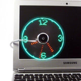 Electronics - Adjustable USB Clock Fan With Flexible Cord (USB Powered)