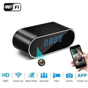 Electronics - WiFi Table Clock Mini Camera 1080P HD IP P2P DVR Camcorder Alarm Set Night Vision Motion Sensor Micro Cam