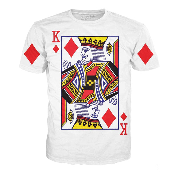 King of Diamonds T-Shirt-T-Shirts-Wireless Jack