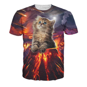 Kitten Eruption T-Shirt-T-Shirts-Wireless Jack