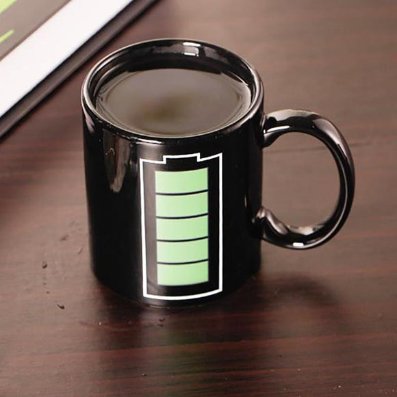 Magic Battery Mugs Changes Color When Hot (On Sale!)