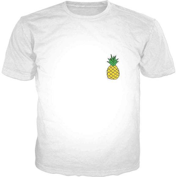 Pineapple Classic White T-Shirt-DW T-Shirts-Wireless Jack