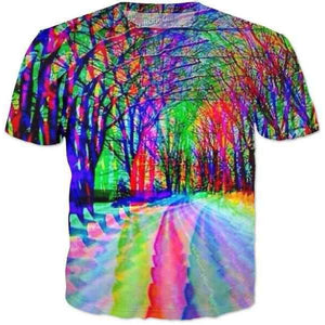 Psychedelic Forest-T-Shirts-Wireless Jack