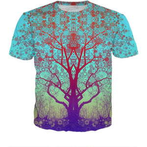 Red Star Trip Tree T-Shirt-T-Shirts-Wireless Jack