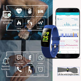 Smart Wristbands - Blood Pressure Monitor Smart Bracelet Heart Rate Monitor Fitness Watch Countdown Stopwatch Clock With Running Mode