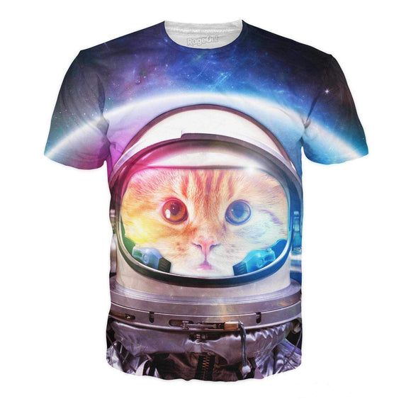 Space Cat T-Shirt-T-Shirts-Wireless Jack