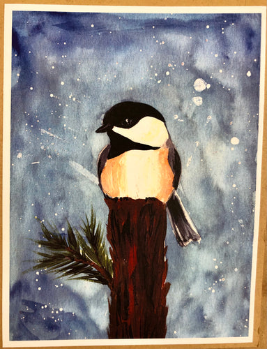 Large Chickadee Blank cards
