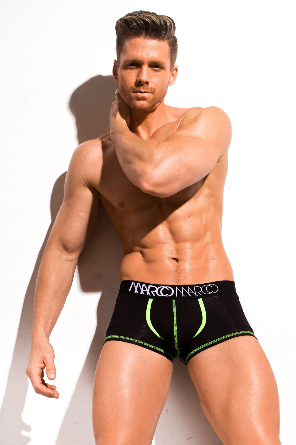 Neon Stitch Trunk Black - australia.marcomarco