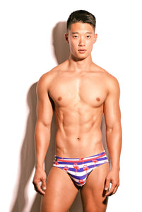 Nautical Swim Brief - australia.marcomarco