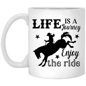 Life Is A Journey 11 oz. White Mug