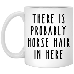 Horse Hair 11 oz. White Mug