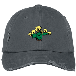 Yellow Desert Rose District Distressed Dad Cap