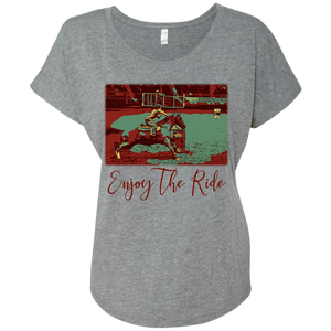 Enjoy The Ride Next Level Ladies' Triblend Dolman Sleeve