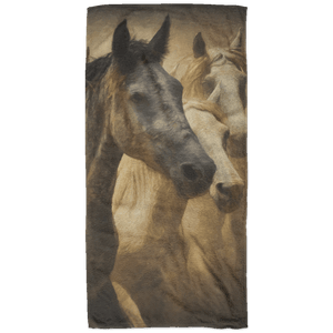 Three Horses Beach Towel - 32x64