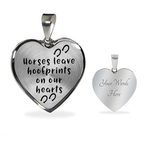 Hoofprints in Heart Necklace