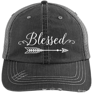 Blessed Distressed Unstructured Trucker Cap