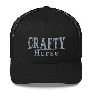 Crafty Black and Silver Trucker Cap